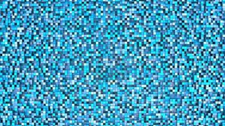 Blue cubes mosaic