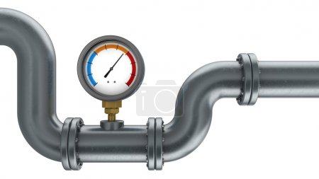 manometer and pipe illustration