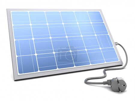 solar panel with power cable