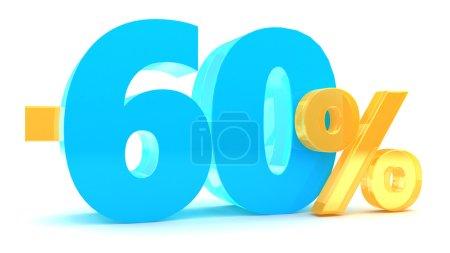 60 percent discount illustration