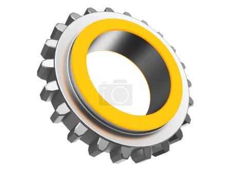 orange color gear wheel