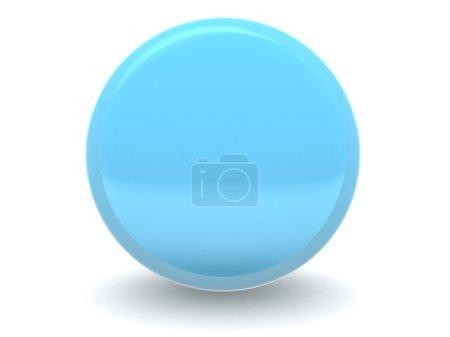 3d blue sphere illustration