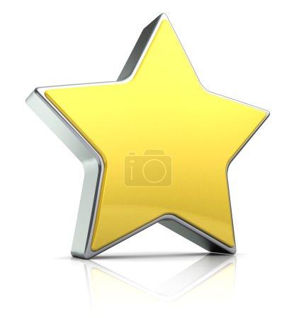 3d illustration of star