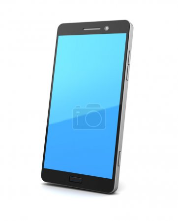 Photo for 3d illustration of generic smartphone over white background - Royalty Free Image