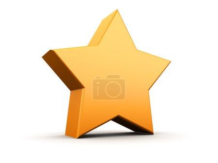 Star symbol over white