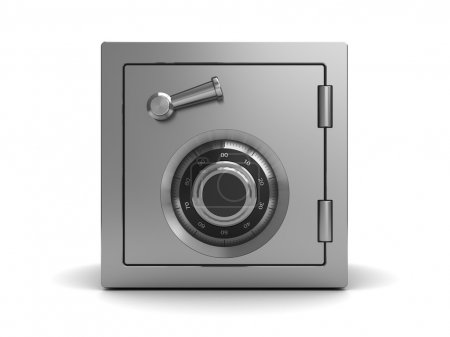 Steel safe, front view