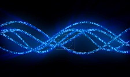 Digital waves illustration