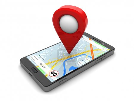 smartphone with navigation software