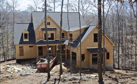 Front of New Home Construction