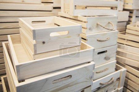 Ensemble de caisses en bois
