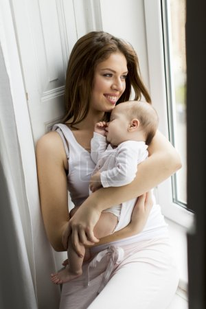 Mother with newborn baby