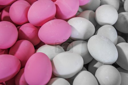 Pink and white eggs