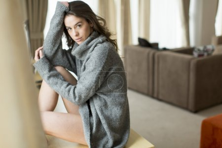 Young woman in a sweater