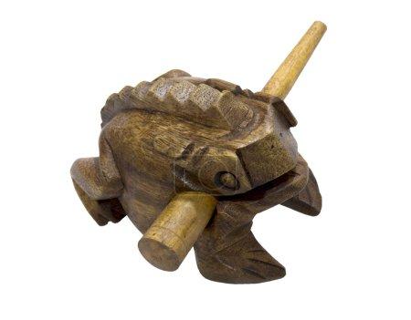 Wooden frog talisman