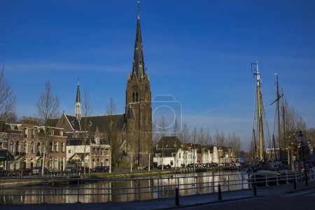 View of the canal in Weesp