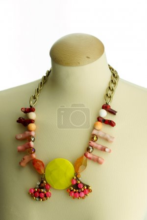 Beautiful necklace on manikin