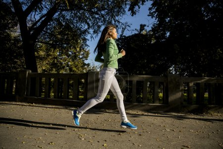 Young woman running