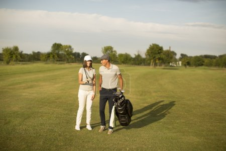Couple at golf court