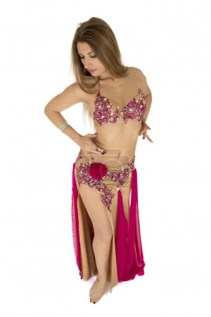 Bright belly dancer