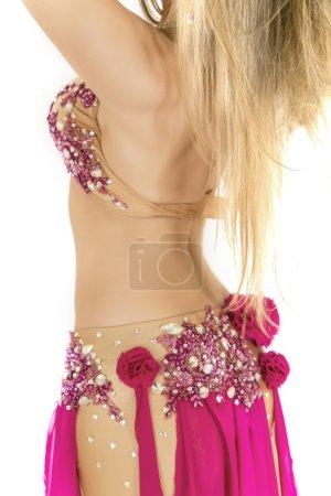Bright belly dancer