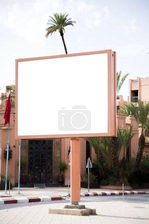Empty billboard in city