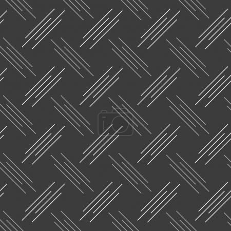 Illustration for Seamless stylish geometric background. Modern abstract pattern. Flat monochrome design.Monochrome pattern with white and gray diagonal uneven stripes. - Royalty Free Image