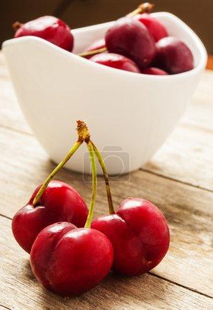 fresh cherry close up