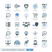 SEO internet and development icon set 02
