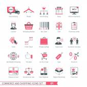 Commerce And Shopping Icons Set 01
