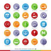 Social Media Flat Icons Set 02