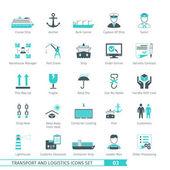 Transport And Logistics Icons Set 03