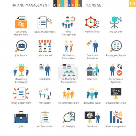 Human Resources Flat Set 03