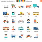 Transport And Logistics Colorful Icons Set 02