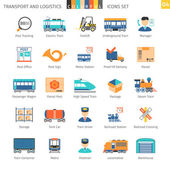 Transport And Logistics Colorful Icons Set 04