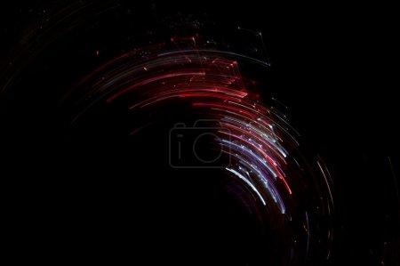 Photo pour Abstrait fées lumières vitesse mouvement sur noir - image libre de droit