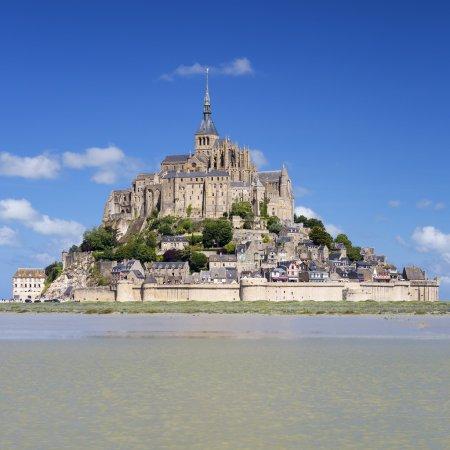 Mont-Saint-Michel with blue sky