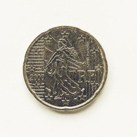 Französische 20 Cent Münze