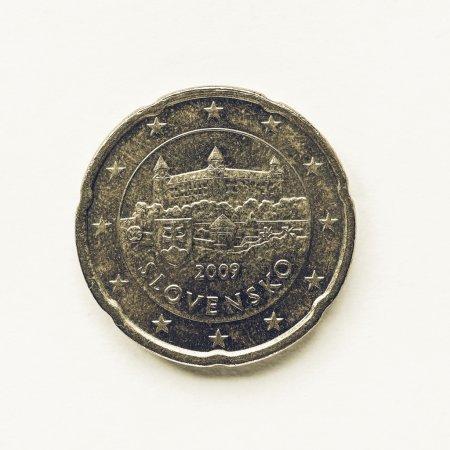 Vintage Slovak 20 cent coin