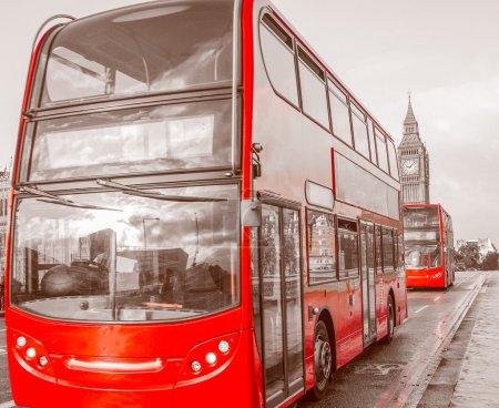 Retro look Red Bus à Londres