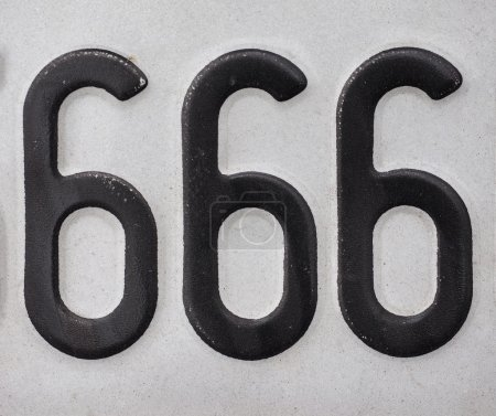 Number 666 of the beast