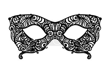 patterned masquerade Mask