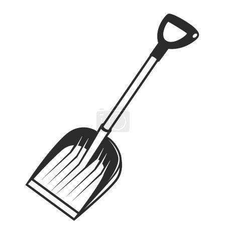 Illustration pour Pelle à icônes vectorielles noires sur fond blanc - image libre de droit
