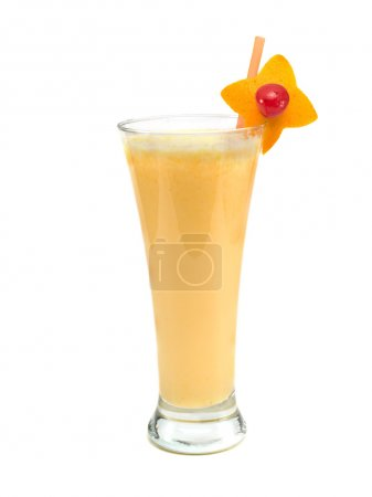 Orange Smoothie on white