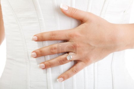 Bride's hand with ring