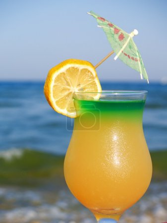 Yellow  Cocktail at  Beach