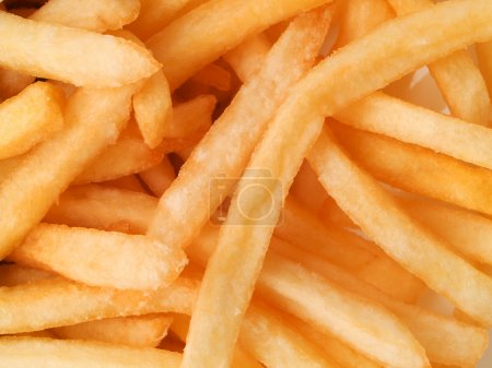 Photo for Prepared French Fries close up as  background - Royalty Free Image