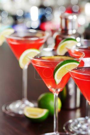 Cosmopolitan cocktail  in bar