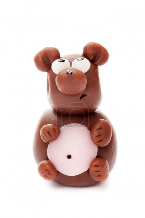 Hippopotamus made of clay