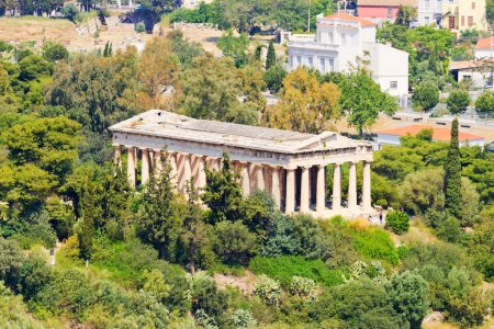 Photo for Temple of Apollo Patroos shot from Acropolis hill. Athens, Greece. - Royalty Free Image