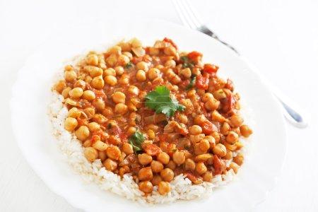 Channa Masala over steamed rice